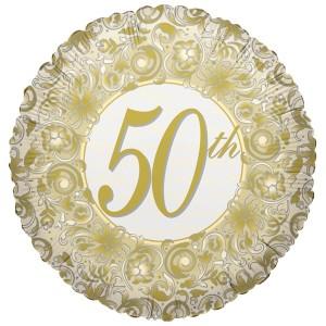 Folienballon rung Zahl 50